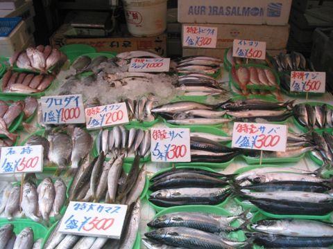 アメ横、鮮魚販売