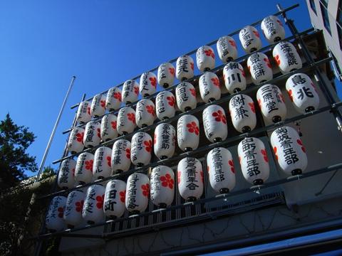 櫻木神社、例大祭提灯