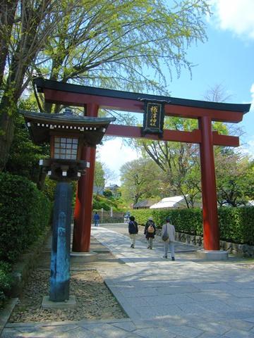 根津神社、入口の大鳥居