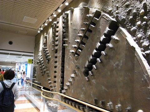 地下鉄博物館、シールドマシンの展示