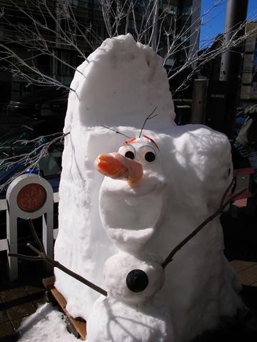 小川町雪だるまフェア、オラフの雪だるま