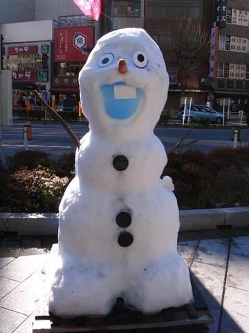 雪だるまフェア、オラフの雪だるま