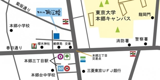 ホテル機山館アクセスマップ